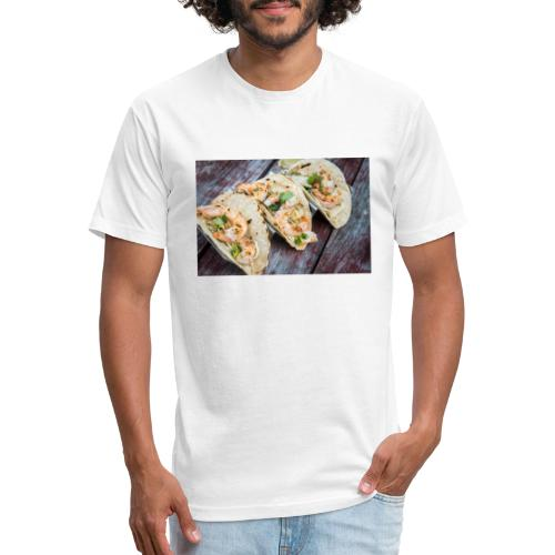 Grilled Shrimp Tacos - Fitted Cotton/Poly T-Shirt by Next Level