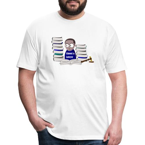 Almost a Lawyer Man African american - Fitted Cotton/Poly T-Shirt by Next Level