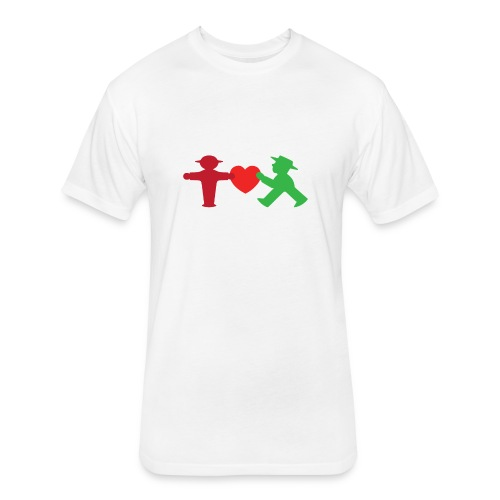 ampelmannchen love - Fitted Cotton/Poly T-Shirt by Next Level