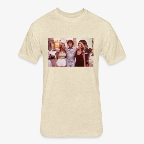 Hugh Hefner - Fitted Cotton/Poly T-Shirt by Next Level