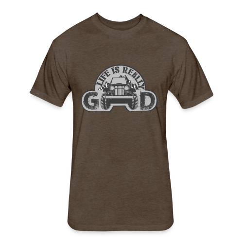 Life Is Really Good Jeep - Fitted Cotton/Poly T-Shirt by Next Level
