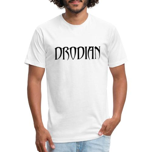 CLASSIC DRODIAN (BLACK LETTERS) - Fitted Cotton/Poly T-Shirt by Next Level
