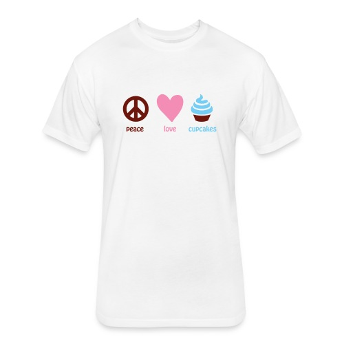 peacelovecupcakes pixel - Fitted Cotton/Poly T-Shirt by Next Level