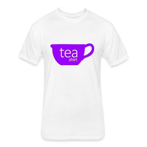 Tea Shirt Simple But Purple - Fitted Cotton/Poly T-Shirt by Next Level