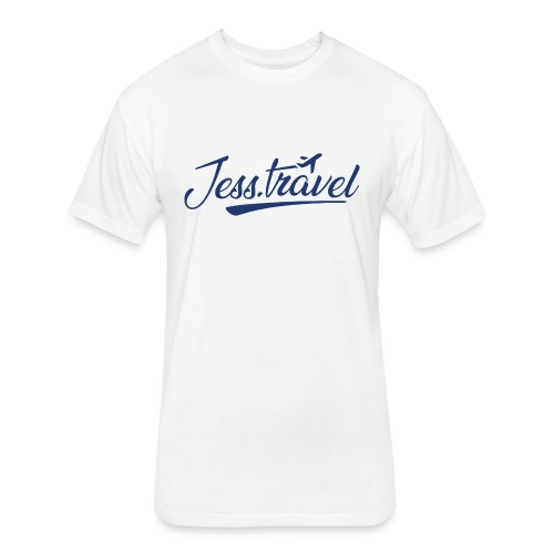 Jess Travel Logo LARGE Reverse - Fitted Cotton/Poly T-Shirt by Next Level