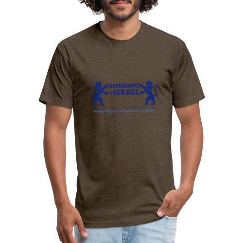 Defenders Of Israel - Fitted Cotton/Poly T-Shirt by Next Level