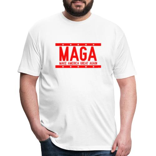 MAGA - Fitted Cotton/Poly T-Shirt by Next Level