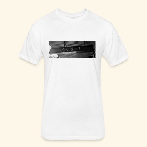 She is art. - Fitted Cotton/Poly T-Shirt by Next Level