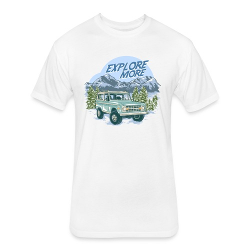 Bronco Truck Explore more II Graphic T-Shirt - Fitted Cotton/Poly T-Shirt by Next Level