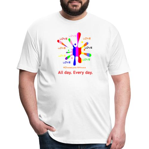 Love 2 - Fitted Cotton/Poly T-Shirt by Next Level