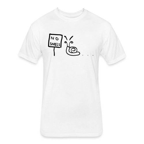 No Snels Original - Fitted Cotton/Poly T-Shirt by Next Level