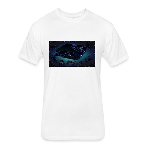 ps4 back grownd - Fitted Cotton/Poly T-Shirt by Next Level