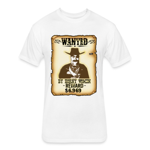 Cowboy Ox-Mad Wanted Poster! - Fitted Cotton/Poly T-Shirt by Next Level