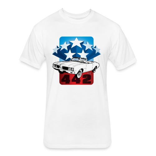 auto_oldsmobile_442_001 - Fitted Cotton/Poly T-Shirt by Next Level