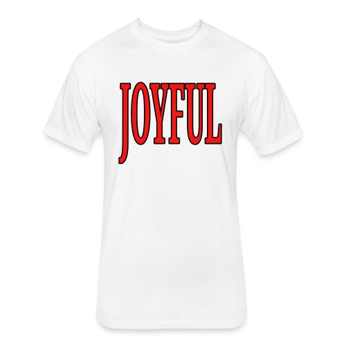 Dave The Cat Big Word Tee! Joyful! - Fitted Cotton/Poly T-Shirt by Next Level