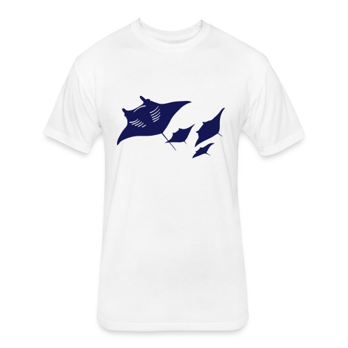 manta ray sting scuba diving diver dive - Fitted Cotton/Poly T-Shirt by Next Level