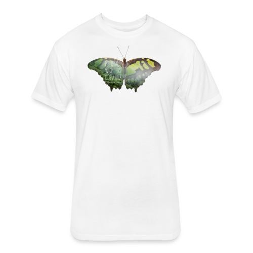 Butterfly_rainforest_1 - Fitted Cotton/Poly T-Shirt by Next Level