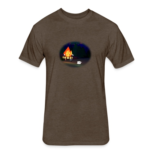 'Round the Campfire - Fitted Cotton/Poly T-Shirt by Next Level
