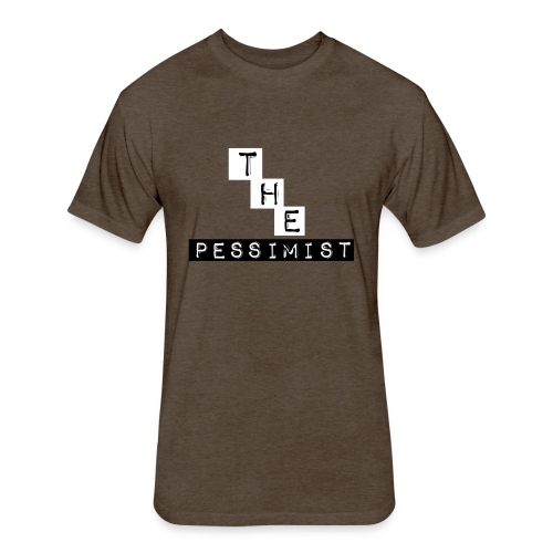 The Pessimist Abstract Design - Fitted Cotton/Poly T-Shirt by Next Level