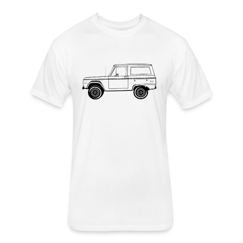 Bronco Truck Line Art Men's T-Shirt - Fitted Cotton/Poly T-Shirt by Next Level