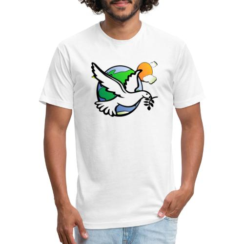 We Need Peace - Fitted Cotton/Poly T-Shirt by Next Level