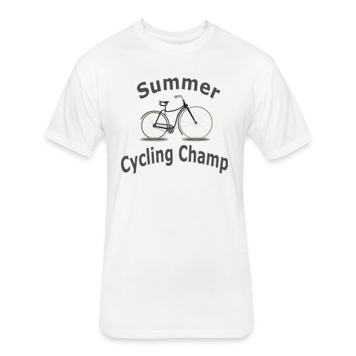 Summer Cycling Champ - Fitted Cotton/Poly T-Shirt by Next Level