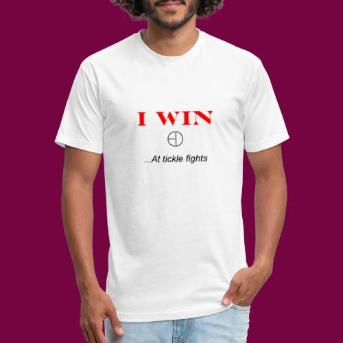I WinAt Tickle Fights - Fitted Cotton/Poly T-Shirt by Next Level