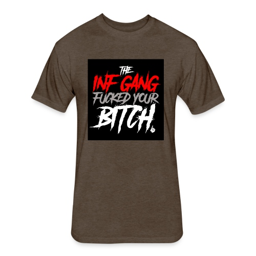 inf_gang_black - Fitted Cotton/Poly T-Shirt by Next Level