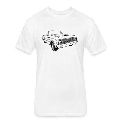 63 Ford Falcon Sprint Conv Men's T-Shirt - Fitted Cotton/Poly T-Shirt by Next Level