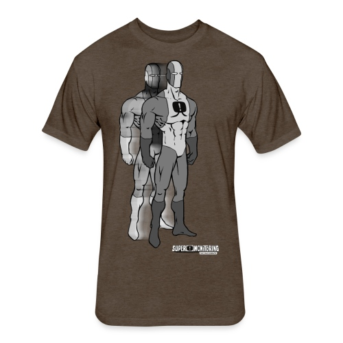 Superhero 9 - Fitted Cotton/Poly T-Shirt by Next Level