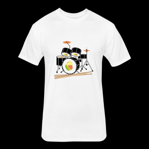 Sushi Roll Drum Set - Fitted Cotton/Poly T-Shirt by Next Level