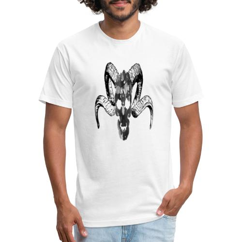 Demons Face - Fitted Cotton/Poly T-Shirt by Next Level