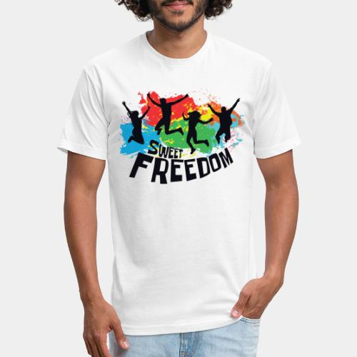 freedom free - Fitted Cotton/Poly T-Shirt by Next Level