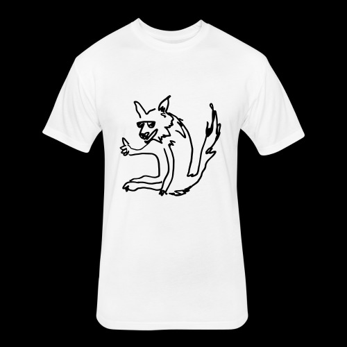 coolyote - Fitted Cotton/Poly T-Shirt by Next Level