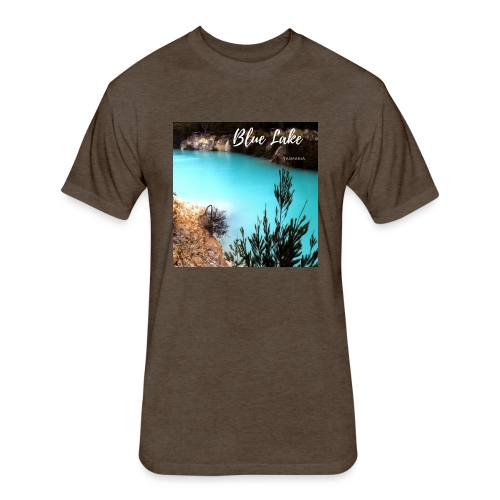 Tasmania Blue Lake - Fitted Cotton/Poly T-Shirt by Next Level
