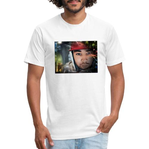 New face design - Fitted Cotton/Poly T-Shirt by Next Level