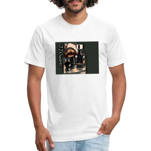 Cold hearted ice line - Fitted Cotton/Poly T-Shirt by Next Level