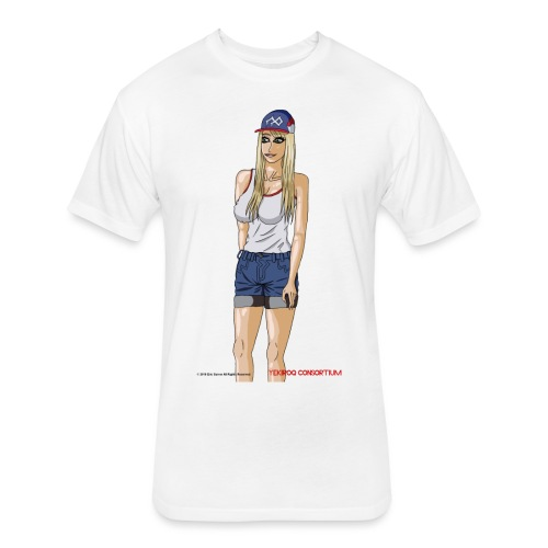 Gina Character Design - Fitted Cotton/Poly T-Shirt by Next Level
