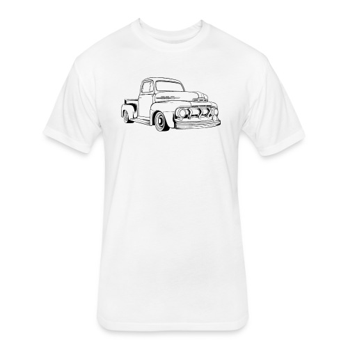 1951 F100 Classic Pickup Truck Men's T-Shirt - Fitted Cotton/Poly T-Shirt by Next Level
