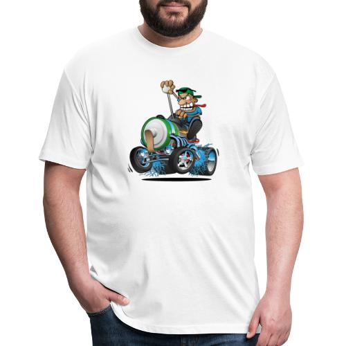 Hot Rod Electric Car Cartoon - Fitted Cotton/Poly T-Shirt by Next Level