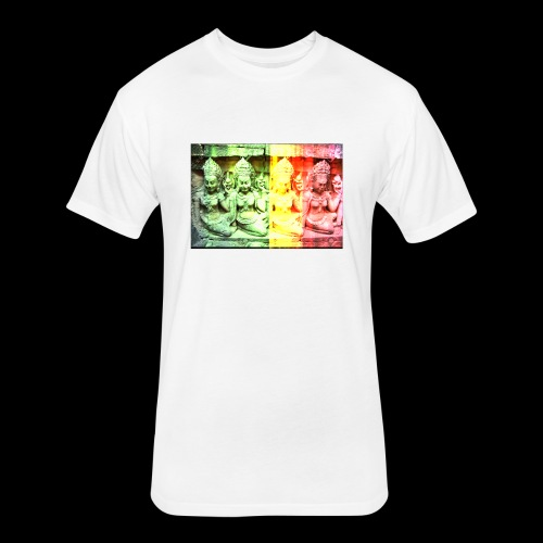 4 apsaras - Fitted Cotton/Poly T-Shirt by Next Level