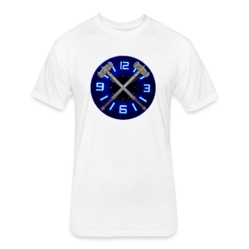 Hammer Time T-Shirt- Steel Blue - Fitted Cotton/Poly T-Shirt by Next Level