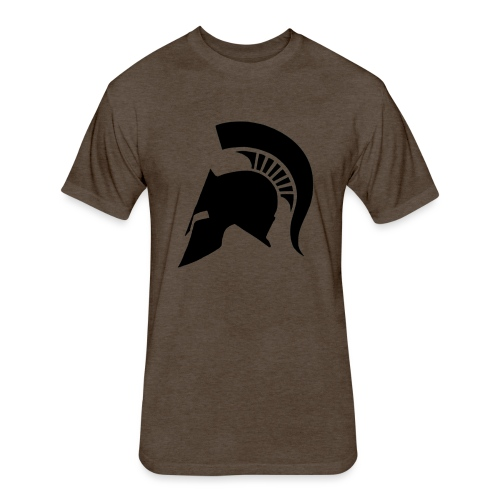 Spartan helmet - Fitted Cotton/Poly T-Shirt by Next Level