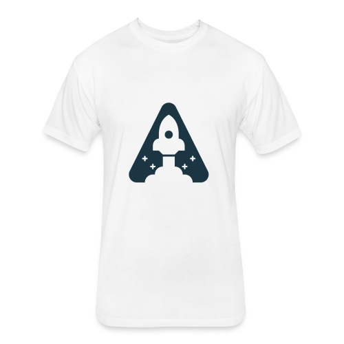 T-shirt with Space Ship. - Fitted Cotton/Poly T-Shirt by Next Level