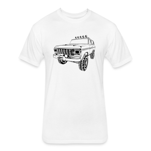 1970 Bronco Truck T-Shirt - Fitted Cotton/Poly T-Shirt by Next Level