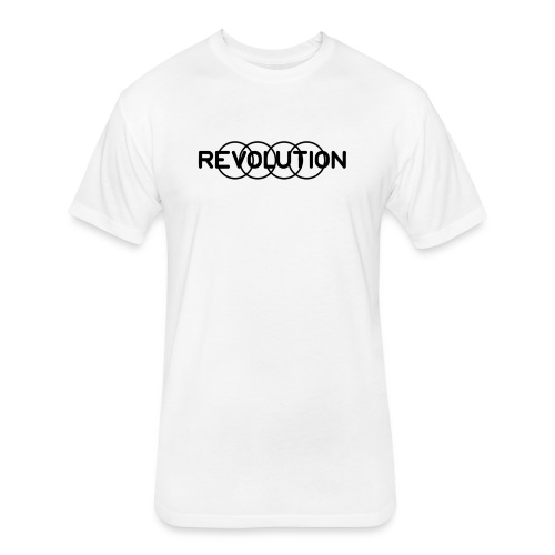 Revolution Black Logo - Fitted Cotton/Poly T-Shirt by Next Level