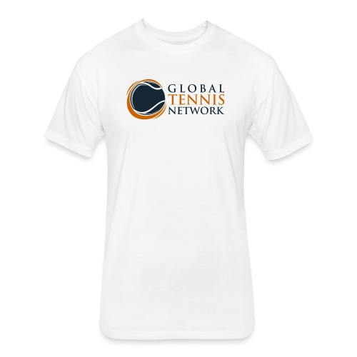 Global Tennis Network on White - Fitted Cotton/Poly T-Shirt by Next Level