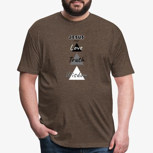 Love Truth Wisdom - Fitted Cotton/Poly T-Shirt by Next Level
