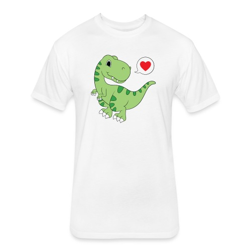 Dinosaur Love - Fitted Cotton/Poly T-Shirt by Next Level