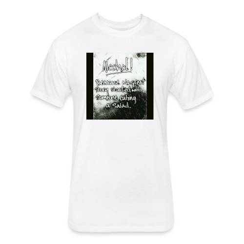 Alcohol - Fitted Cotton/Poly T-Shirt by Next Level